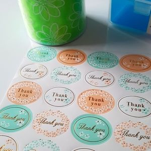 """48 pcs Thank You Stickers 1.25""""x1"""" in"""
